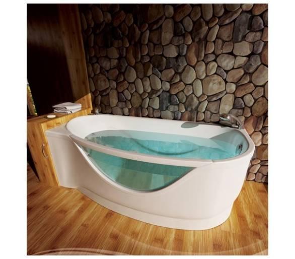 Акриловая ванна Тритон Милена со встроенным стеклом 170*94 правая + панель + ножки
