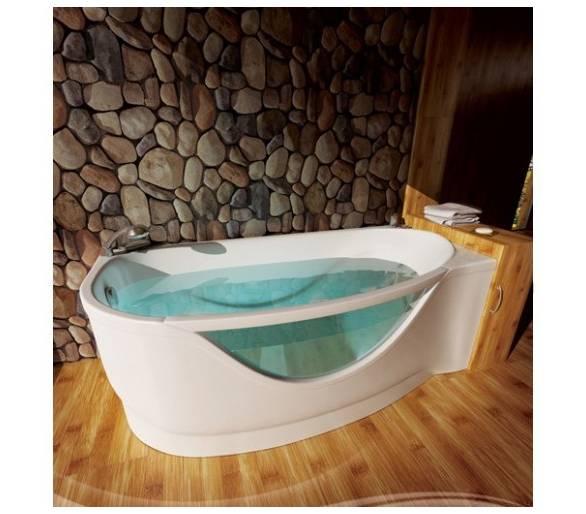 Акриловая ванна Тритон Милена со встроенным стеклом 170*94 левая + панель + ножки
