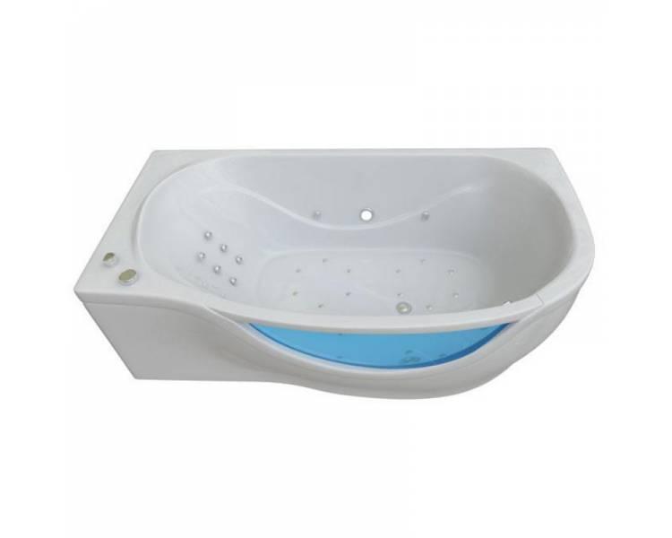 Гидромассажная гелькоутная ванна Тритон Милена со встроенным стеклом 170*94 правая + панель + ножки