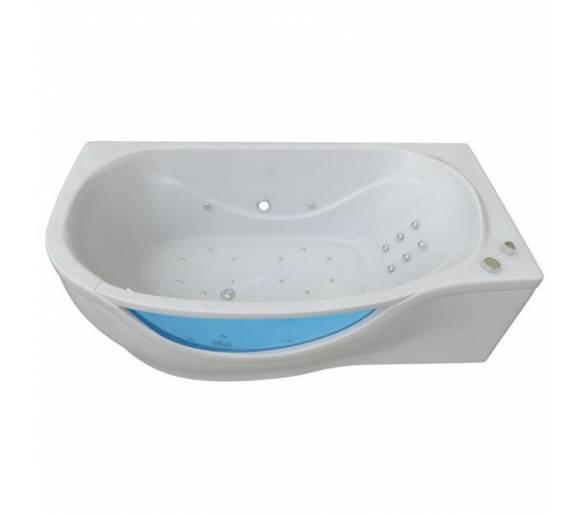 Гидромассажная гелькоутная ванна Тритон Милена со встроенным стеклом 170*94 левая + панель + ножки