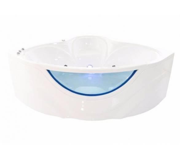 Гидромассажная гелькоутная ванна Тритон Виктория 150*150 со встроенным стеклом + панель + ножки