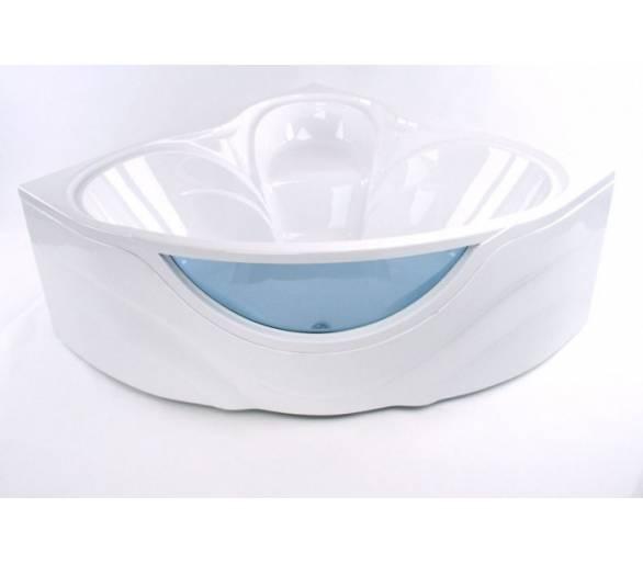 Акриловая ванна Тритон Виктория150*150 со встроенным стеклом + панель + ножки