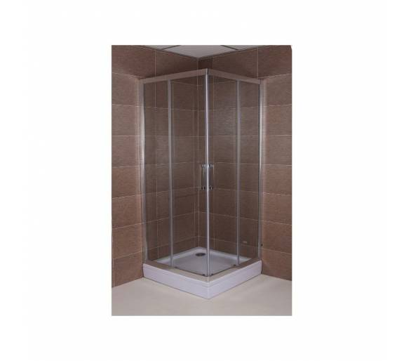 Уголок для душа квадрат SLIDING (900*900*1900), SL9090Q (Tr)