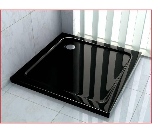 Поддон для душа полимерно-композитный радиальный 1000*1000*50 ST100100R black