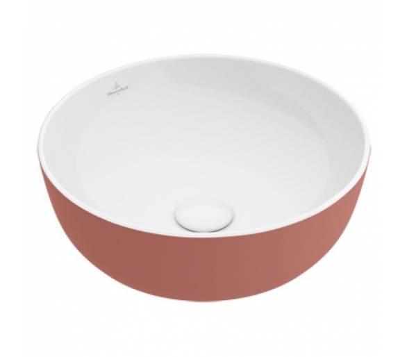 ARTIS умывальник 43см, для уст. на столешницу, без зоны для отв. для монтажа смес., без перелива, цвет ballet (розовый)
