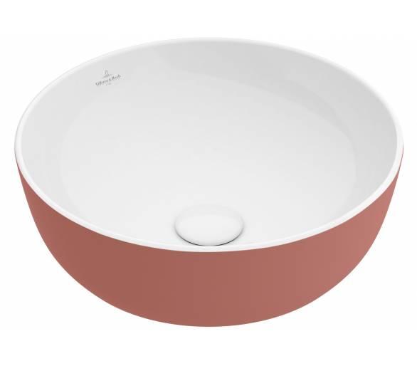 ARTIS умывальник 43см, для уст. на столешницу, без зоны для отв. для монтажа смес., без перелива, цвет розовый