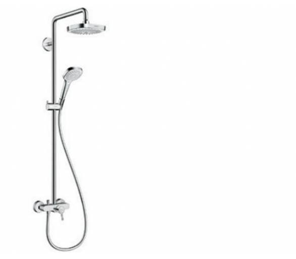 Croma Select E 180 2jet Showerpipe Душевая система, цв белый хром