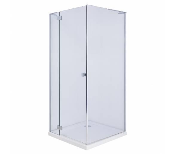 BENITA душевая кабина квадратная 900*900*1950 мм (стекло,дверь, комплектация), распашная, хром, прозрачное