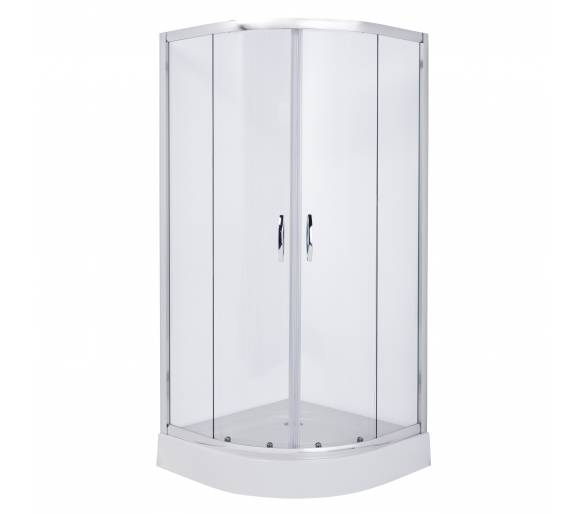 FIESTA душевая кабина 90*90*185 см (стекла+двери), хром, прозрачное