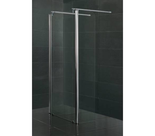 Стенка c подвижным профилем 450*1900 мм, каленое прозрачное стекло 8мм