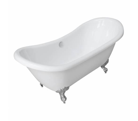 Ванна 175*75*78см, отдельно стоящая, на ножках, акриловая