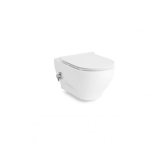 OLIVA Rimless унитаз 525*360*400mm подвесной с функцией биде(теплая вода), с сидением Slim slow-closing