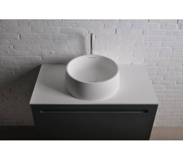 Раковина накладная каменная круглая Solid surface ø420*150 mm
