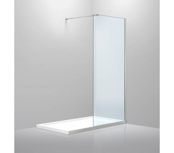 Стенка 900*1900 мм, прозрачное стекло 8мм+Профиль стеновой 1900мм для Walk-IN+Держатель стекла (D) 1000мм