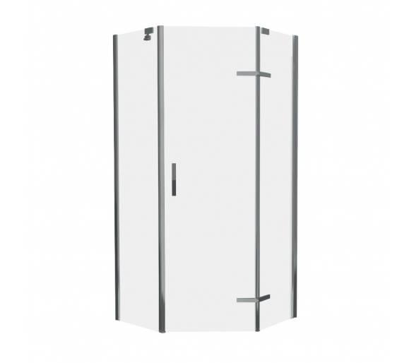STEFANI душ кабина без поддона 100*100*190 см, пятиугольная (стекла+двери) прозрачная-ВЫПИСЫВАТЬ С КОМПЛЕКТОМ 599-535/3