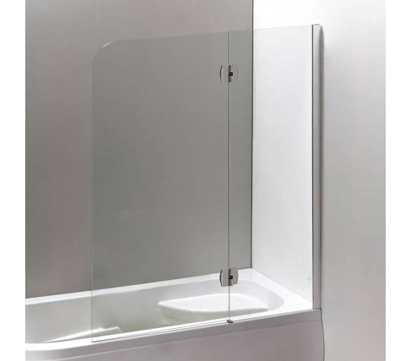 Шторка на ванну 120*150 см, правая, цвет профиля хром