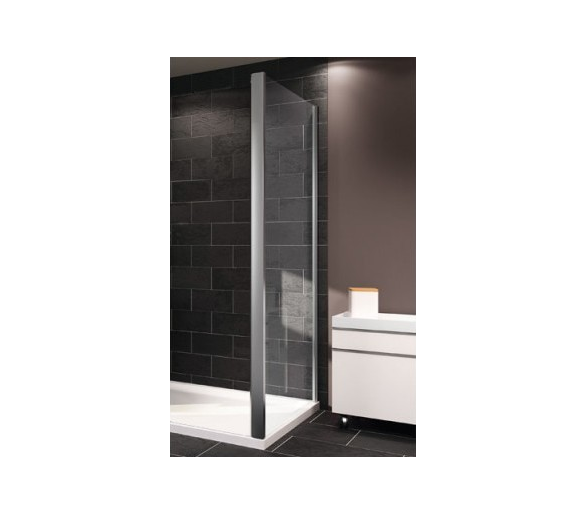 X1 стенка боковая 80см (профиль гл хром, стекло прозрачное)