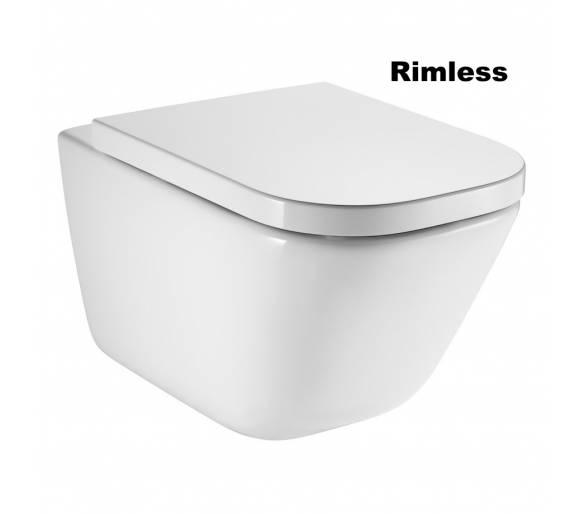 Унитаз подвеснойGAP Rimless с сиденьем slow-closing