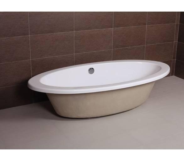 Ванна акриловая AW821 врезная с переливом 186*90  с сифоном