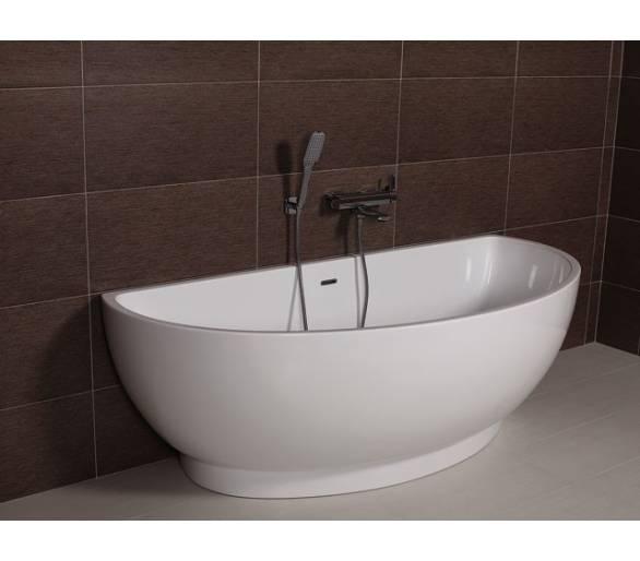 Ванна отдельностоящая акриловая AW420 175*80с сифоном