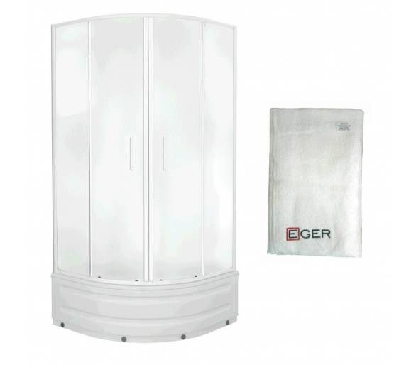TISZA MELY душевая кабина 90*90*200 см+Полотенце банное