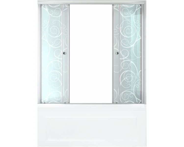 Душевая штора для ванной Тритон Узоры 170 см