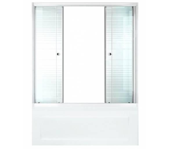 Душевая штора для ванной Тритон Полосы 170 см
