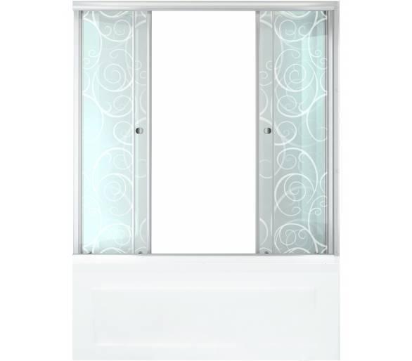 Душевая штора для ванной Тритон Узоры 150 см
