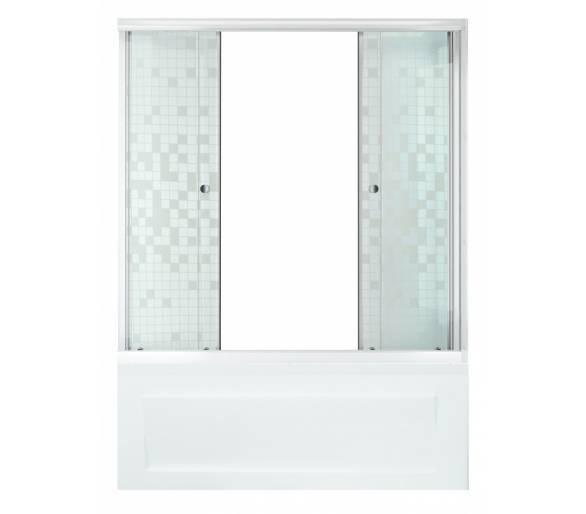 Душевая штора для ванной Тритон Мозайка 150 см