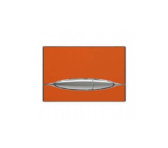 Кнопка в инсталл. системы, глянец. оранж. METAURO