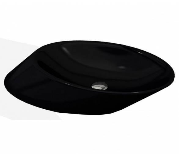 Умывальник MILANO 56х39 глянец. черный
