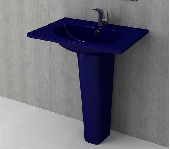 Умывальник TAORMINA ARCH 65х45 глянец. сапфир синий