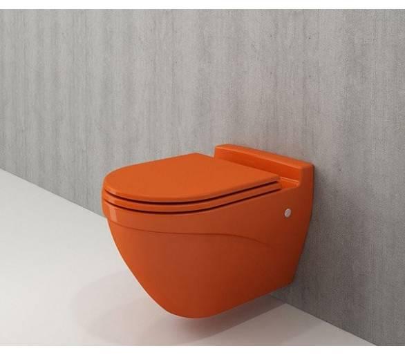 Унитаз подвесной TAORMINA ARCH оранжевый + сид.дюроп.