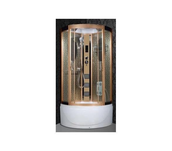 Гидромассажный бокс BADICO 8060 90х90х215 золото, поддон 30/45 см.