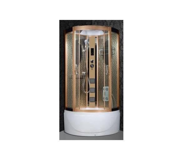 Гидромассажный бокс BADICO 8061 100х100х215 золотая с глубоким поддоном