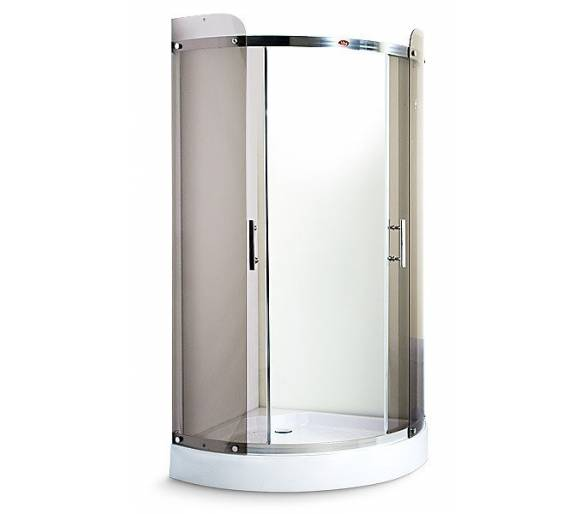 Душевая кабина MIRACLE TS 3014 100х100 чайное стекло