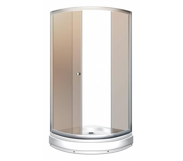 Душевая кабина MIRACLE XL01-1 чайное стекло 92х92 см.