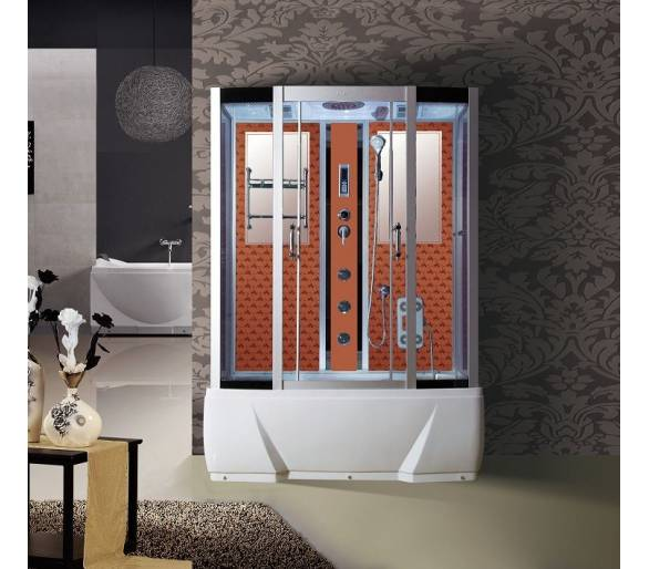 Гидромассажный бокс BADICO 578J DO 85х150х215 джакузи-оранжевая