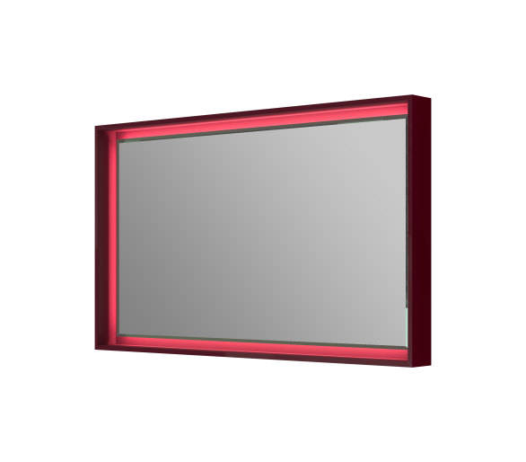 Зеркало BOTTICELLI TORINO TrM-100 бордовая