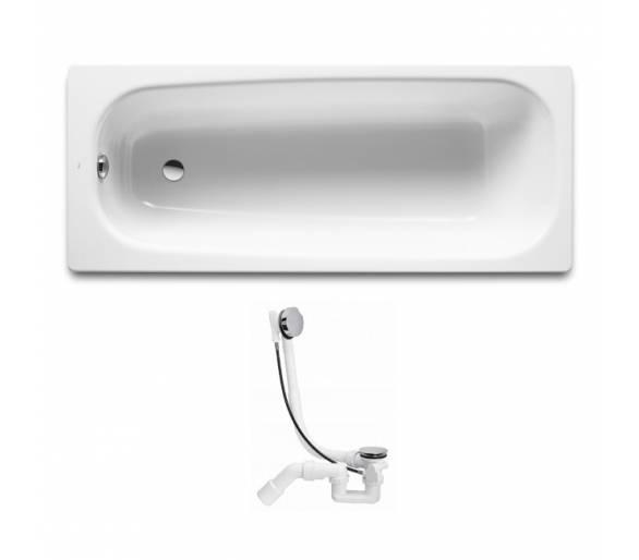 Чугунная ванна Roca Continental 170х70 см. с сифоном