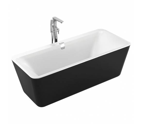 Ванна отдельностоящая черно-белая 180*80