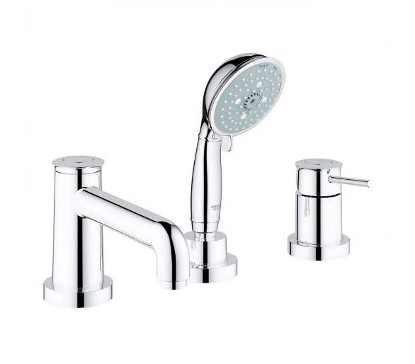 BauClassic Смеситель для ванны на 3 отверстия