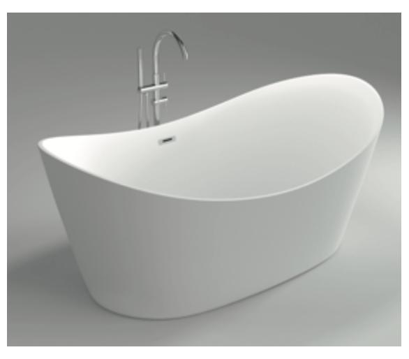 Отдельностоящая акриловая ванна DUSEL DU-104 Siena 180*80