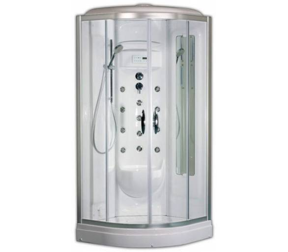 Гидромассажная кабина АМ ПМ Sense с паром 90х90х220 см