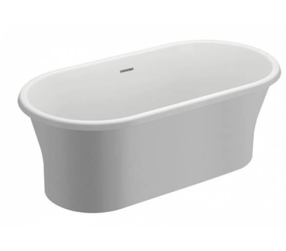 Акриловая ванна Polimat Amona New 150x75 отдельностоящая белая