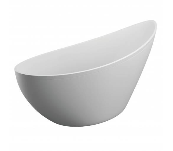 Акриловая ванна Polimat Zoe 180x80 отдельностоящая белая