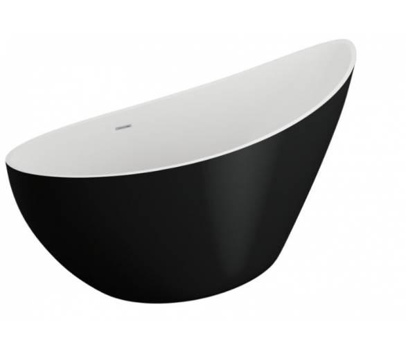 Акриловая ванна Polimat Zoe 180x80 отдельностоящая черная
