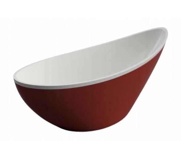 Акриловая ванна Polimat Zoe 180x80 отдельностоящая красная