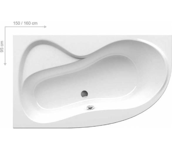 Акриловая ванна Ravak Rosa 95