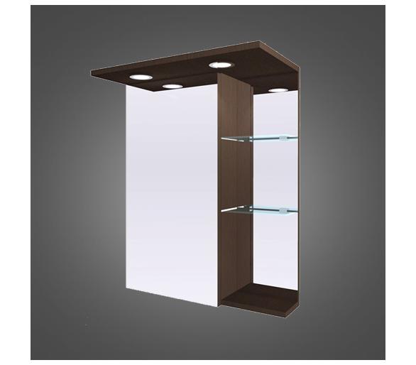 Зеркальный шкаф с диодной подсветкой 58 см.